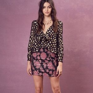 547f6873a55f44 For Love and Lemons Black OTS Lace Bell Sleeve Top.  65  128. Lottie Top